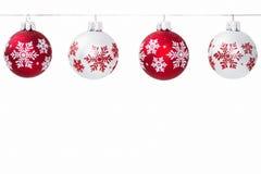 Schneeflocken-Weihnachtsverzierung Lizenzfreies Stockbild