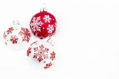 Schneeflocken-Weihnachtsverzierungen Lizenzfreie Stockfotos