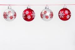 Schneeflocken-Weihnachtsverzierungen Lizenzfreies Stockbild