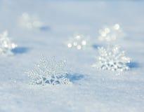 Schneeflocken am Winter Lizenzfreie Stockfotos