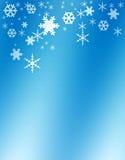 Schneeflocken, Winterhintergrund Lizenzfreies Stockfoto