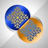 Schneeflockenaufkleber Lizenzfreies Stockfoto