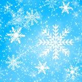 Schneeflockenauslegung Stockfotografie