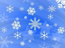 Schneeflockenauslegung Stockfoto