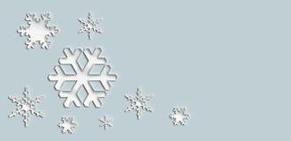 Schneeflockenelement des Weihnachtshintergrundes Lizenzfreie Stockbilder