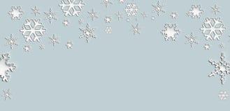 Schneeflockenelement des Weihnachtshintergrundes Stockbild