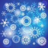 Schneeflockenhintergrund Stockfotos