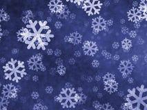 Schneeflockenhintergrund Stockbild