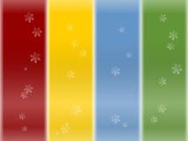Schneeflockenhintergrund Lizenzfreies Stockfoto