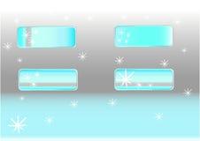 Schneeflockenknöpfe stock abbildung