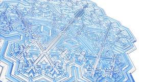 Schneeflockenkristall Stockfotos