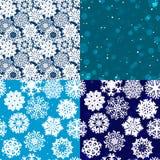 Schneeflockenmuster Nahtlose vektorbeschaffenheit Weihnachts- und des neuen Jahreskonzept Lizenzfreie Stockfotos