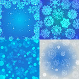 Schneeflockenmuster Nahtlose vektorbeschaffenheit Weihnachts- und des neuen Jahreskonzept Stockbild