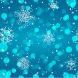 Schneeflockenmuster Nahtlose vektorbeschaffenheit Weihnachts- und des neuen Jahreskonzept Stockbilder