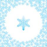 Schneeflockenmuster von Schneeflocken Stockfotos