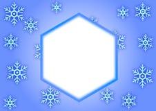 Schneeflockenrahmen Stockfotografie