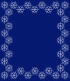 Schneeflockenrahmen mit transparentem snowstar für Winterdekoration stock abbildung