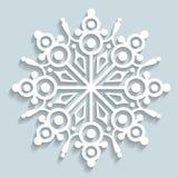 Schneeflockenschnittpapier Stockfotos