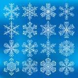 Schneeflockenvektorikonen vektor abbildung