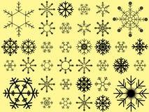 Schneeflockenvektorsammlung Stock Abbildung