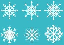Schneeflockenvektorsymbol, Winterfrostzeichen stellte, Feiertagsdekoration ein Lizenzfreies Stockbild