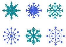 Schneeflockenvektorsymbol, Winterfrostzeichen stellte, Feiertagsdekoration ein Stockfotografie