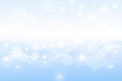 Schneeflockenwinterhintergrund Lizenzfreies Stockbild