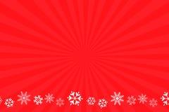 Schneeflockerothintergrund Stockfoto