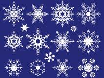 Schneeflockeset Stockfoto