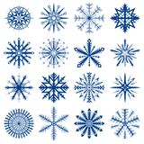 Schneeflockeset stock abbildung
