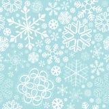 Schneeflockeweihnachten und nahtloses Muster des neuen Jahres Stockfotografie