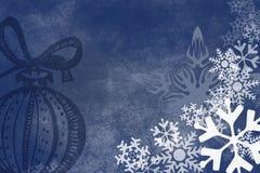 Schneeflockeweihnachtsauszug Hintergrund Lizenzfreie Stockbilder