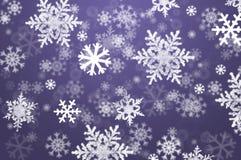 Schneeflockeweihnachtsauszugshintergrund Lizenzfreies Stockfoto