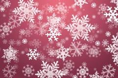 Schneeflockeweihnachtsauszugshintergrund Lizenzfreie Stockfotos