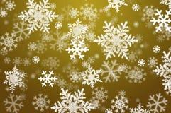 Schneeflockeweihnachtsauszugshintergrund Lizenzfreies Stockbild