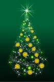 SchneeflockeWeihnachtsbaum und Platz für Ihren Text Stockbilder
