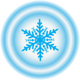 Schneeflockewinter illustration stockbilder