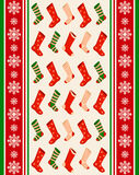 Schneeflockewinter und Sockenhintergrund. Lizenzfreie Stockfotos