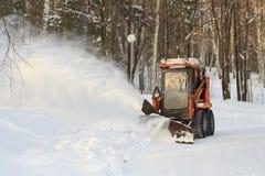 Schneegebläse stockfotos