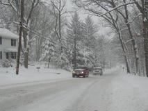Schneegrenze Stockbild