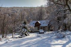 Schneehaus lizenzfreies stockbild
