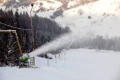 Schneekanon Stockfoto
