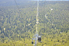 从Schneekoppe的缆车 库存照片