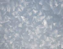 Schneekristalle Stockbild
