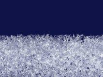 Schneekristallschmelze auf dem Fenster Lizenzfreies Stockbild