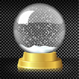 Schneekugel des Vektors leere Weihnachts Vektor Abbildung
