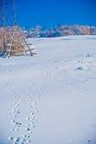 Schneelandschaft Stockbild