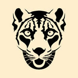 Schneeleopard-Kopfgesichts-Vektorillustration Lizenzfreies Stockbild