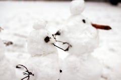 Schneemänner Stockfotografie