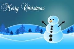 Schneemann der frohen Weihnachten Lizenzfreies Stockfoto